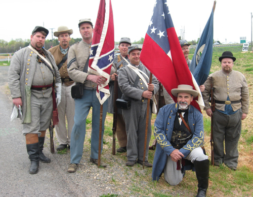 47th VA at the new Museum of the Confederacy Branch in Appomattox - 31 Mar 2012